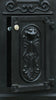 Ecco Satin Black Tower Mailbox E8 Front Door