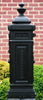 Ecco Satin Black Tower Mailbox E8 Side View