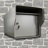 Fort Knox Large Standard Mailbox Gray LGSTD