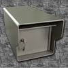 Fort Knox Small Standard Mailbox Gray Front Profile SMSTD