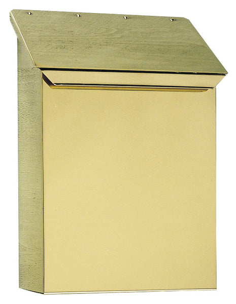 Provincial Collection Brass Mailbox Vertical Polished Brass MB-400-PB