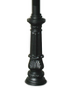 QualArc Lewiston Mailbox Ornate Base Black