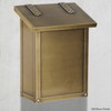 Americas Finest Classic  Vertical Wall Mount Mailbox Old Brass (OB)