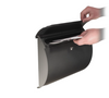 Spira Black Powder Coat Wall Mount Mailbox