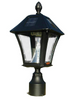 QualArc Lewiston Mailbox - Ornate Base and Solar Lamp Set