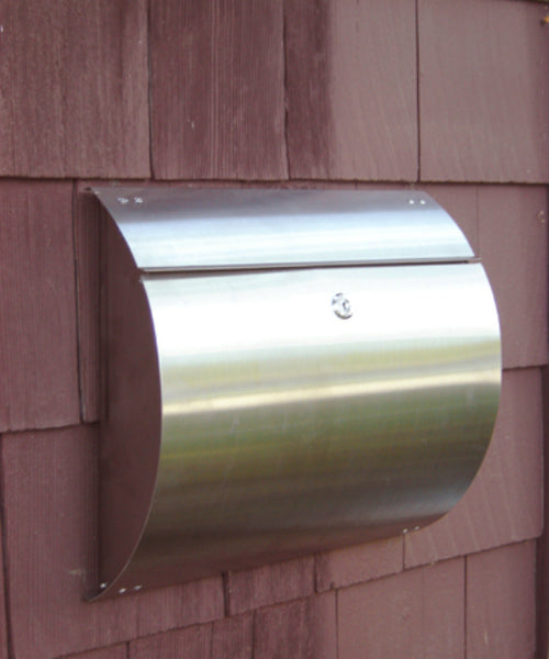 Spira Stainless Steel Wall Mount Mailbox