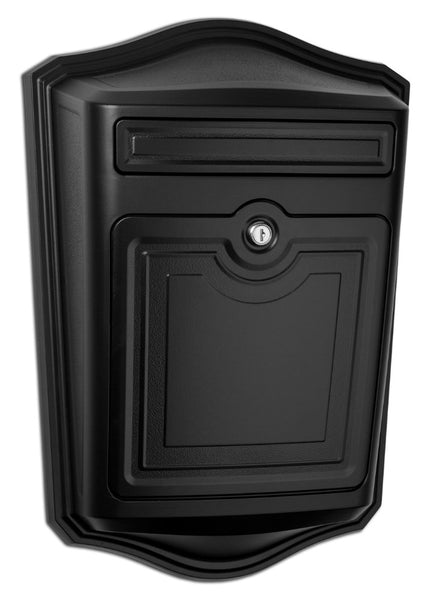 Maison Black Locking Wall Mount Mailbox