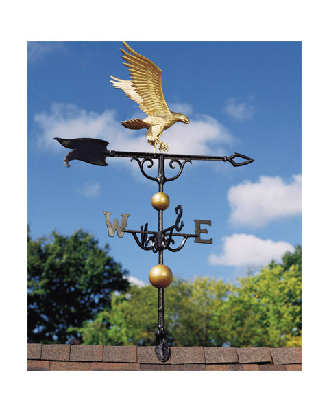 "46"" Eagle Weathervane in Gold-Bronze Finish"
