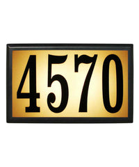 QualArc - Bayside Estate Lighted Address Plaque