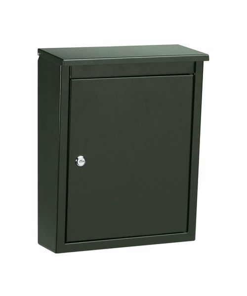 Soho Black Locking Wall Mount Mailbox