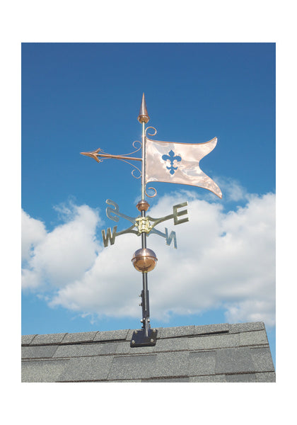 Copper Banner Weathervane in Polished Finish