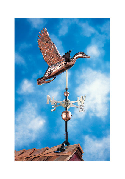 Copper Duck Weathervane in Polished Finish