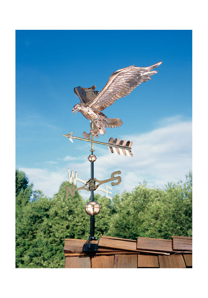 Copper Eagle Weathervane in Polished Finish