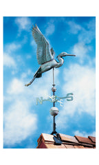 "Whitehall Copper Heron 44.5"" Weathervane"