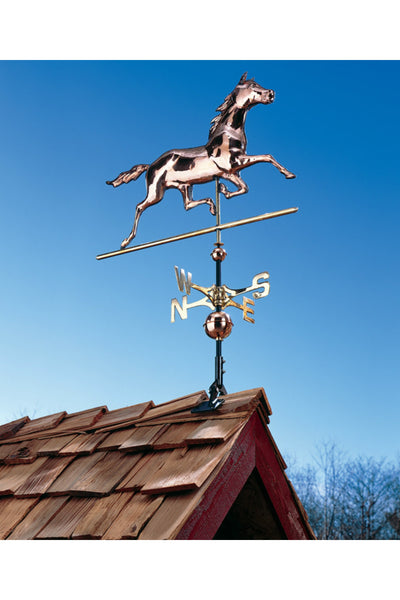 Copper Horse Weathervane in Polished Finish