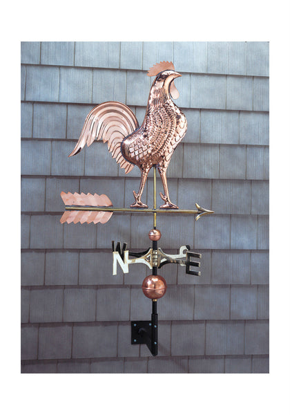Whitehall Copper Rooster Weathervane in Polished Finish