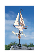 "Whitehall Copper Sailboat 49"" Weathervane"