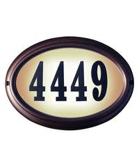 Edgewood Oval Lighted Custom Address Plaque