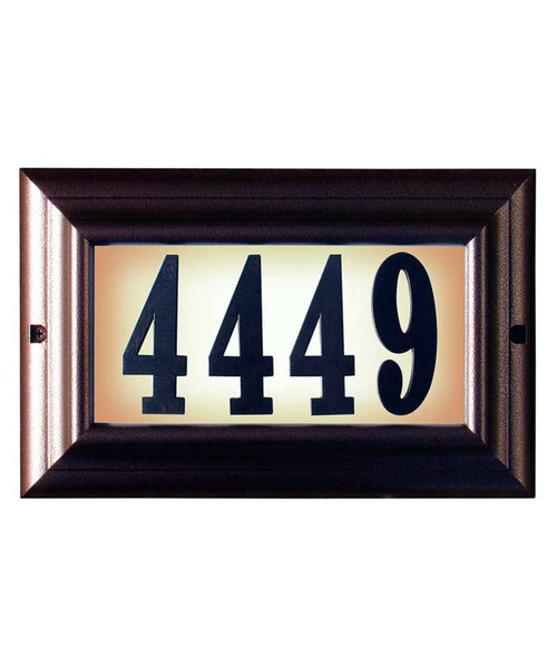 Edgewood Standard Lighted Address Plaque Antique Copper