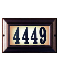 Edgewood Large Lighted Custom Address Plaque