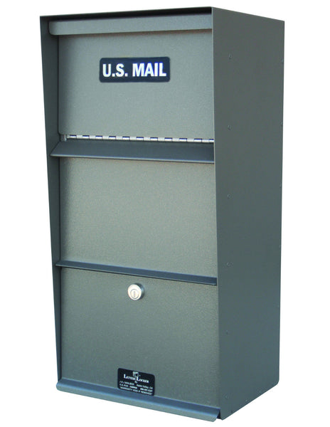 Letter Locker Grey Vertical Wall Mount LLVW