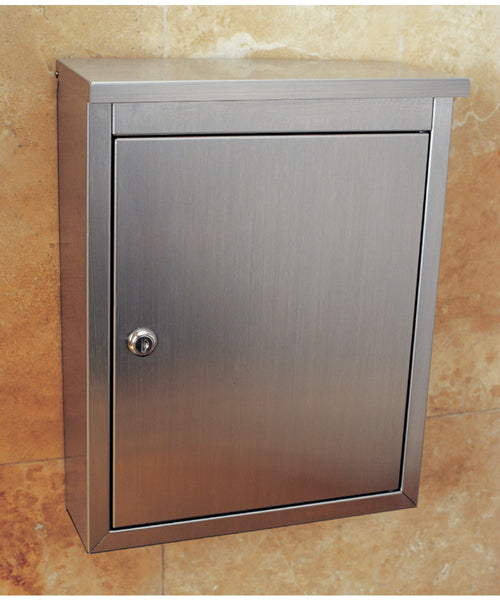 Metropolis Brushed Satin Finish Locking Wall Mount Mailbox