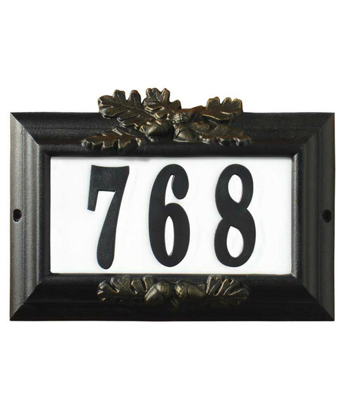 Edgewood Misty Oak Lighted Address Plaque Black