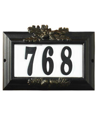 Edgewood Misty Oak Lighted Custom Address Plaque