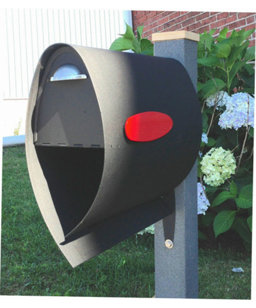 Spira Black Powder Coat Post Mount Mailbox Small