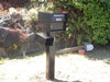 Fort Knox Mailbox Fortress B Black Newspaper box and post set