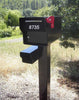 Fort Knox Mailbox Fortress B Black with Newspaper box and post