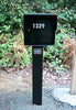 Fort Knox Large Standard Mailbox Black Front On LGSTD