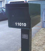Fort Knox Large Standard Mailbox Black Side Profile LGSTD