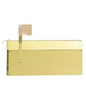Provincial Collection Rural Mailbox Polished Brass MB-1000-PB