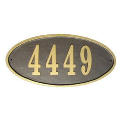 QualArc - Claremont Oval Cast Aluminum Address Plaque