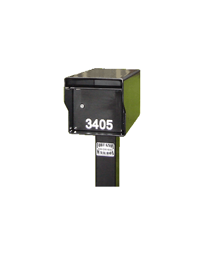 Fort Knox Small Standard Mailbox Black SMSTD