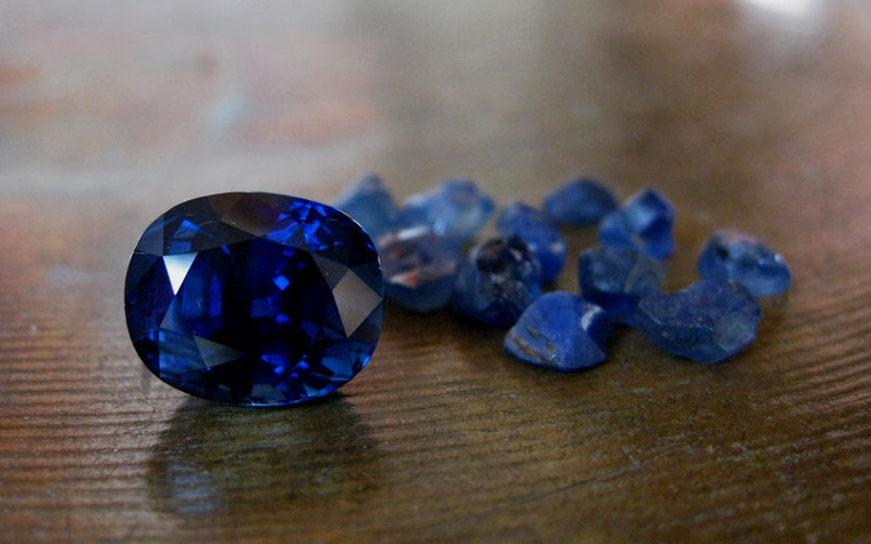 sapphire natural and rough