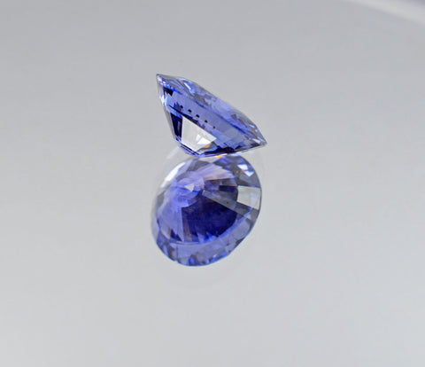 6.58 Carat Corn Flower Blue Sapphire in Perfect Round Shape