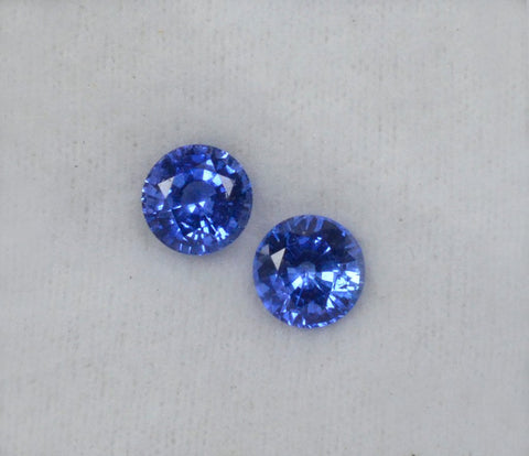 Round shaped blue sapphires under 1 carat