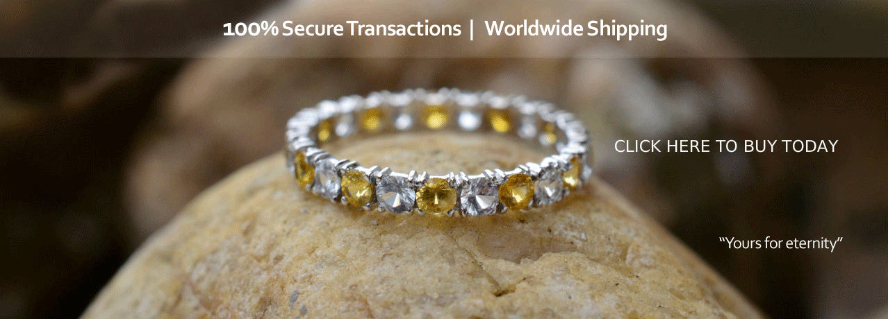 Yellow Sapphire Ring - Eternity Ring