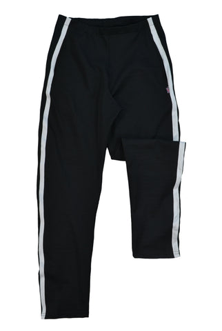 Tracksuit trousers, black with white stripe, made in England