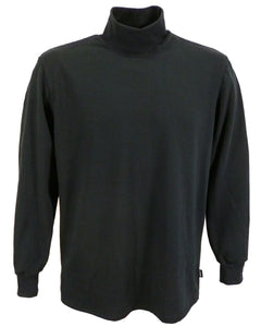 Black polo neck sweater, made in UK