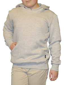Kid's grey marl hoodie, made in England
