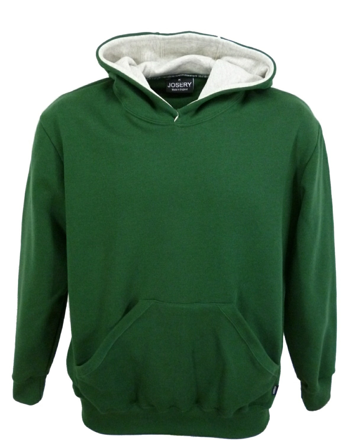 Forest green hoodie, made in UK
