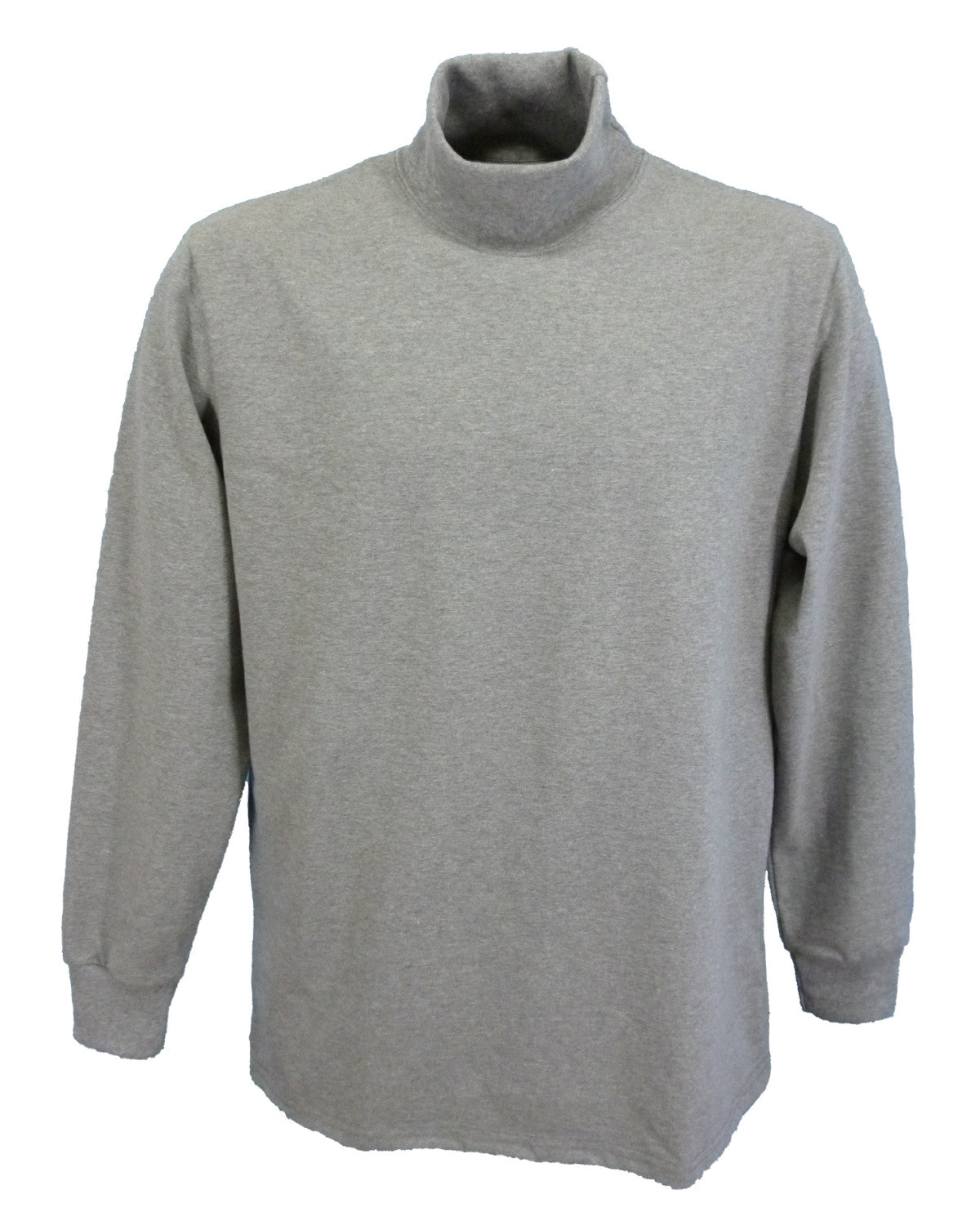 Grey marl polo neck sweater, made in England.