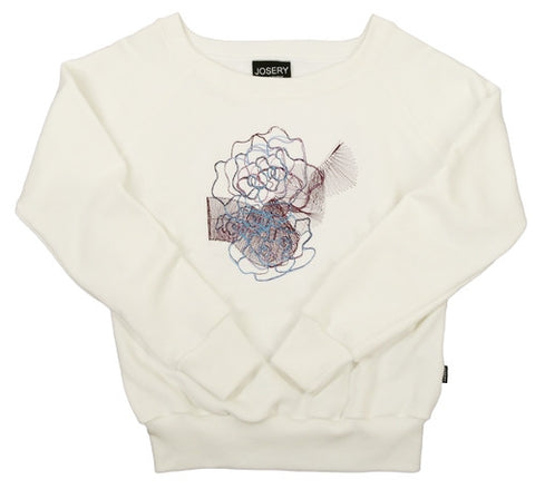 Women's sweatshirt with flower design