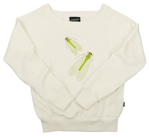 Women's sweatshirt with lacewing design