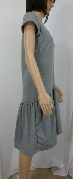 grey marl cotton jersey pep dress