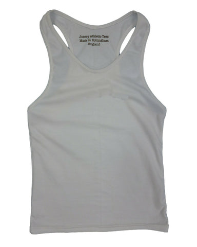 Sale Item: J330 Women's Grey Marl interlock racer back vest top