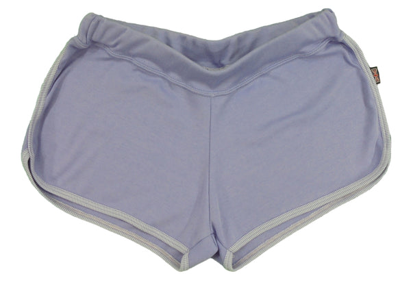 Lilac shorts, made in England